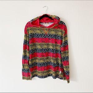 Koto tribal print hoodie - fits oversized